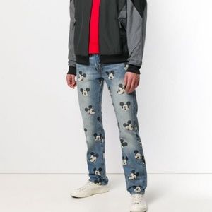 Levi's x Disney Mickey Mouse printed 501 jeans